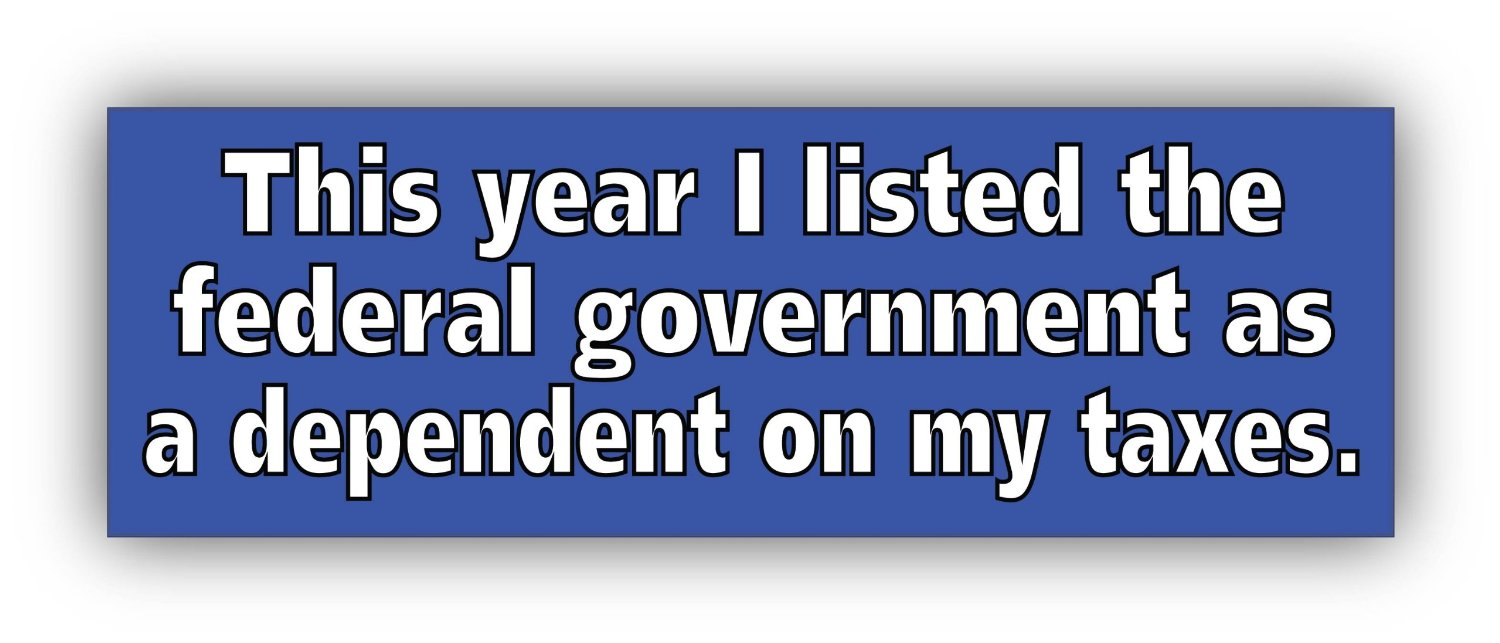 i listed the federal government as a dependent